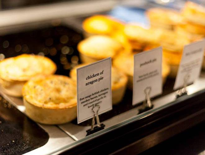 Chicken of Aragon pie, available at Pieminister
