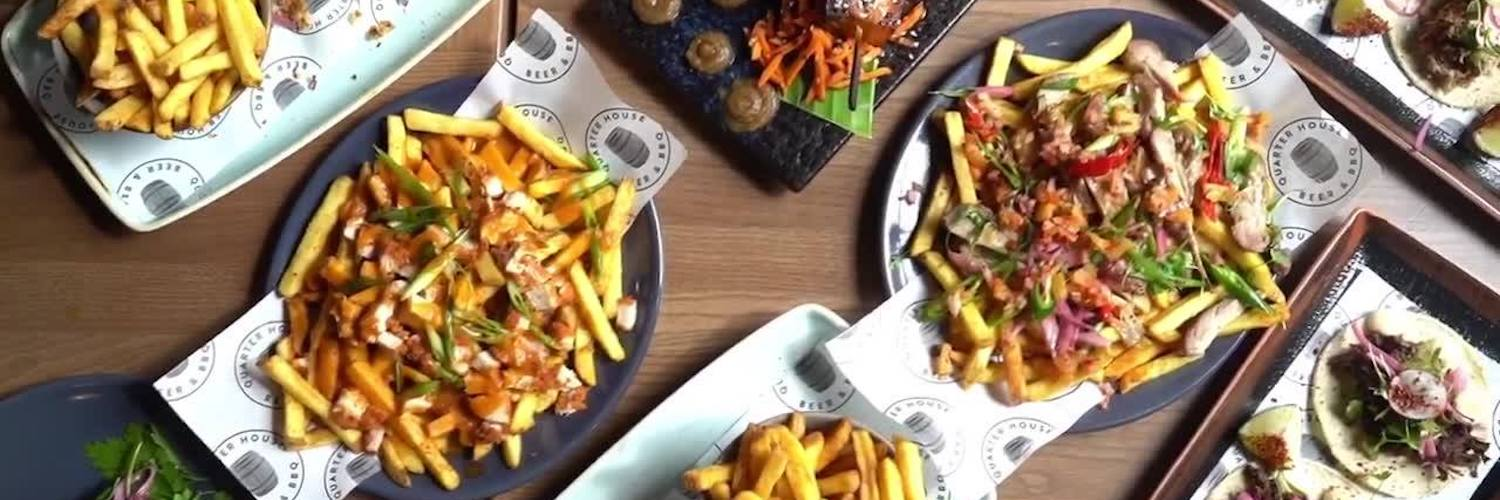 Selection of the food available at The Quarter House, Manchester