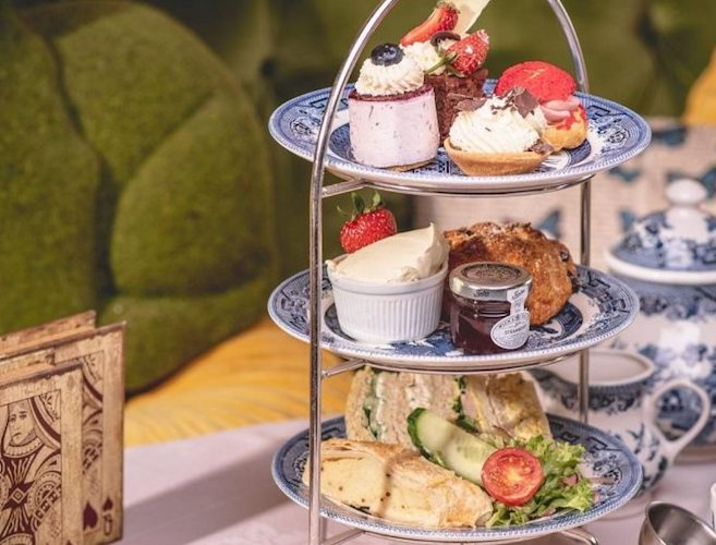 Afternoon tea at Richmond Tea Rooms, Manchester