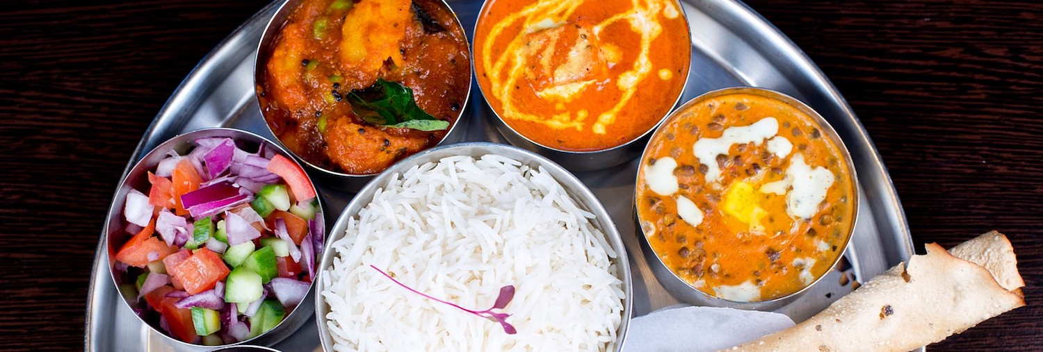 A selection of dishes at Sanskruti Indian Restaurant Withington