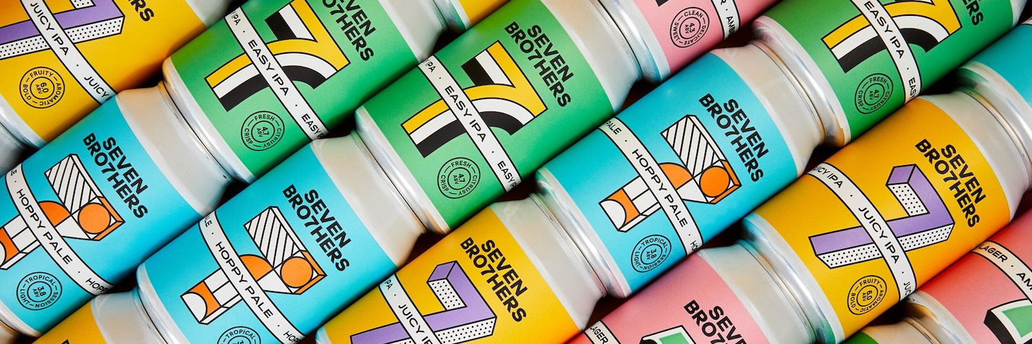 A selection of Seven Bro7hers IPA cans