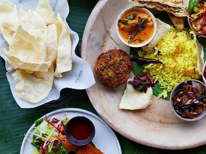a selection of dishes on the menu at Sigiriya Sri Lankan Restaurant Hale