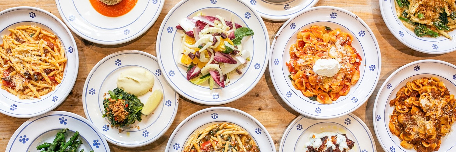 a selection from the menu at Sugo Pasta Kitchen, Ancoats, manchester