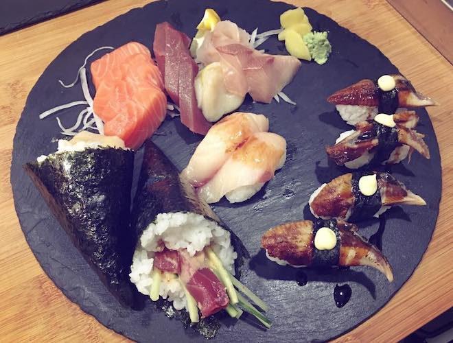 sashimi at Sushi Marvel Restaurant Ancoats Manchester