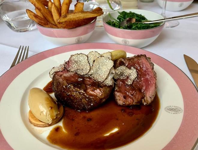 Steak and truffle at Rosso