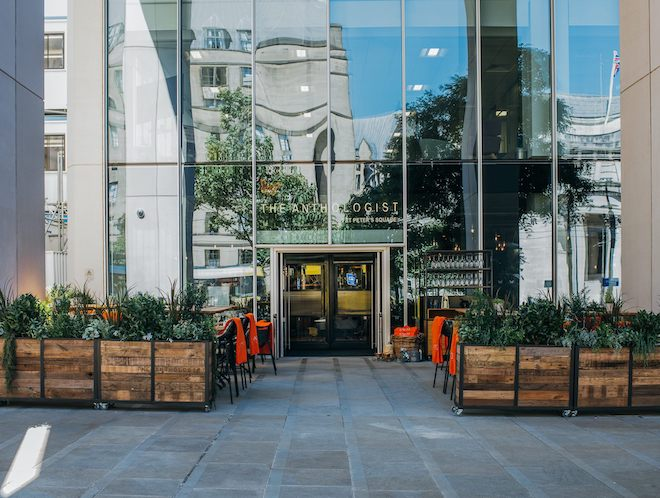 The Anthologist Restaurant on St Peter's Square Manchester