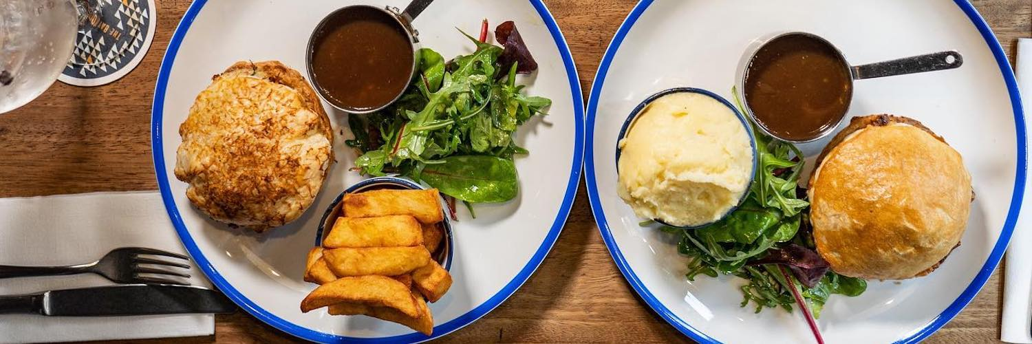 Pie and mash on the menu at The Bay Horse Tavern Manchester