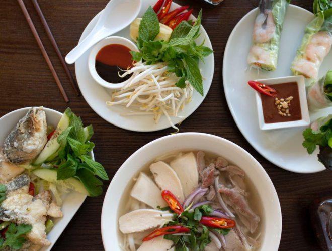 Vietnamese food from Viet Guy, a family-run Vietnamese restaurant in Northenden, Greater Manchester.