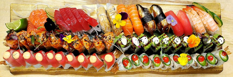 60 piece sushi omakase sharing platter - chefs choice at Zumu