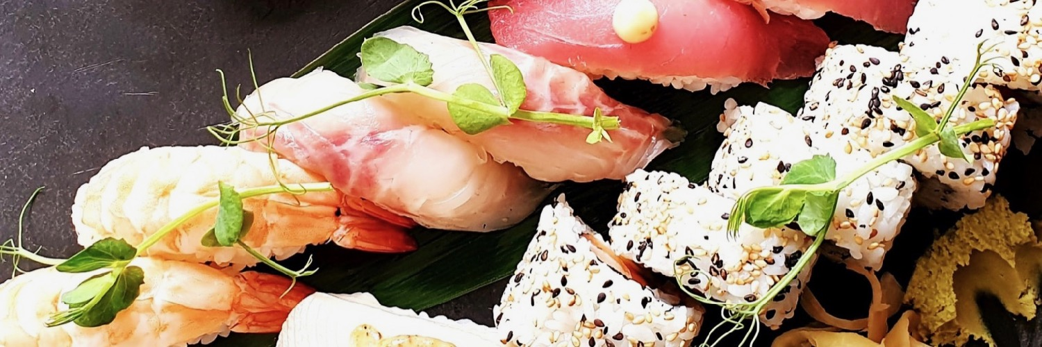Sushi as served at Kampai Sushi, a Japanese restaurant in Hale, Greater Manchester.
