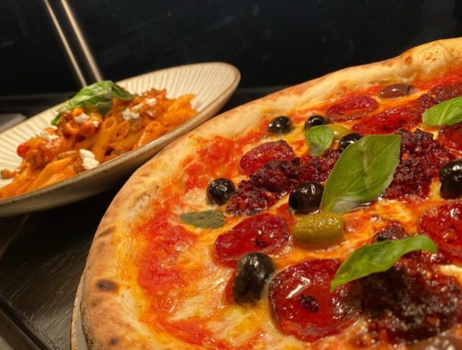 A pizza served at La Casa, an Italian restaurant and bar in Astley, Greater Manchester