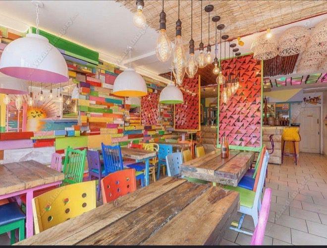 Inside The Drop Bar Cafe - a Caribbean restaurant in Chorlton, Manchester.