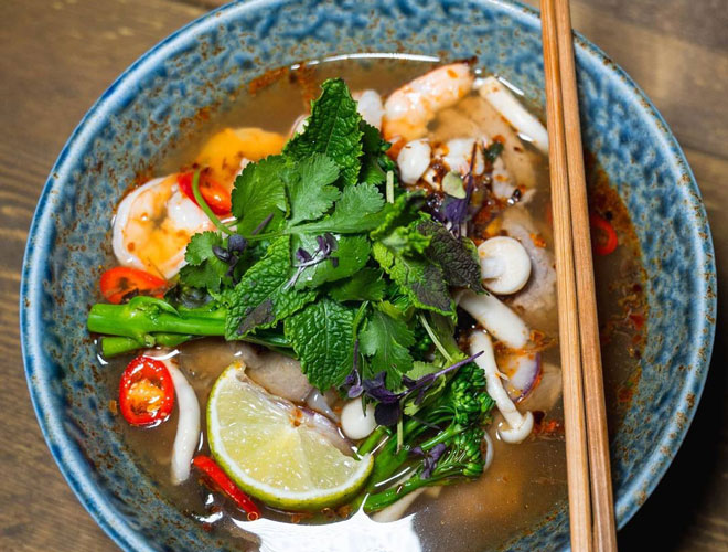 Vietnamese Pho at Mi & Pho, Escape to Freight Island, Manchester