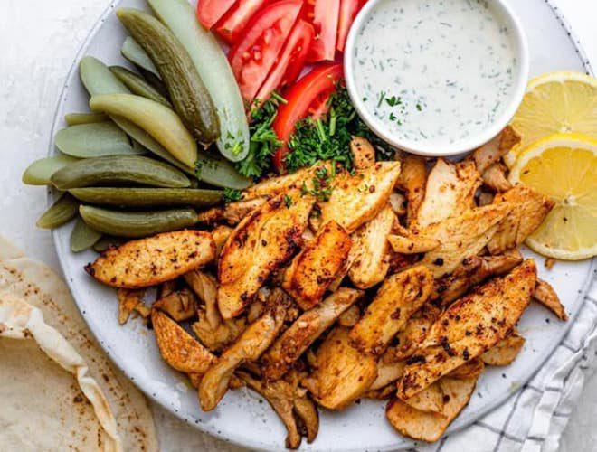 platter from Yara restaurant cheadle