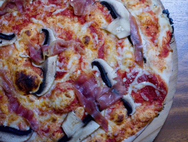 Wood-fired pizza served at Frederiks - a Brooklyn-inspired bar in Liverpool.