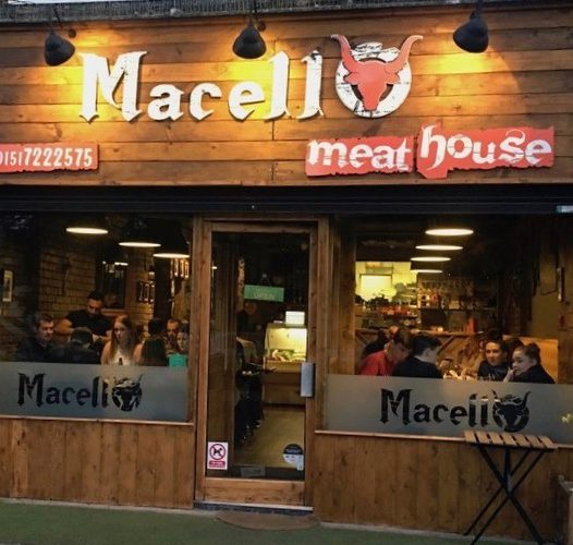 The exterior of Macello Meat House in Childwall - a popular steak restaurant in Liverpool