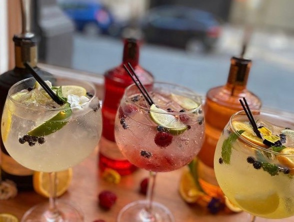 Gin and tonics served at NYL Restaurant and Bar in Liverpool's Aloft hotel.